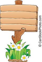 bois, 1, thème, enseigne, image