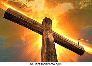 bois, (3, croix