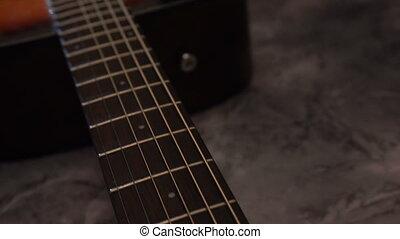 bois, acoustique, naturel, guitare, classique