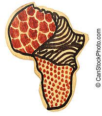 bois, afrique, continent