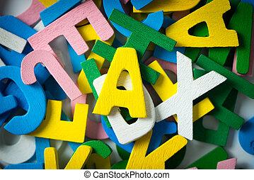 bois, alphabets