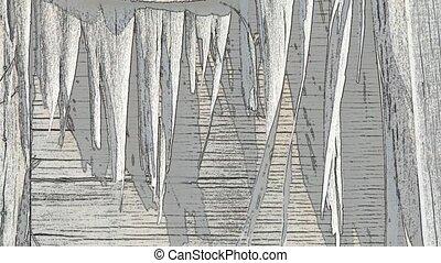 bois, animation, vieux, fond