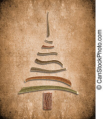 bois, arbre, noël, fond