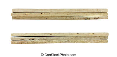 bois, arrière-plan., blanc, isolé, planches
