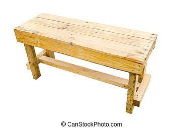 bois, arrière-plan., blanc, isolé, table