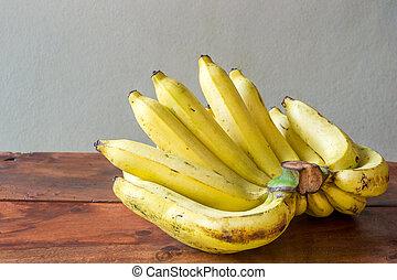 bois, bananes, fond