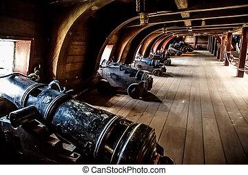 bois, bateau, genova, pirate, port