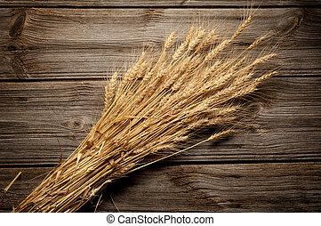 bois, blé, fond