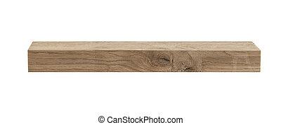 bois, blanc, barre, isolé, fond
