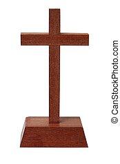 bois, blanc, croix