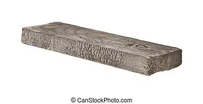 bois, blanc, isolé, fond, planche