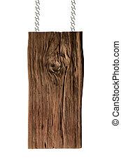bois, blanc, isolé, fond, signe