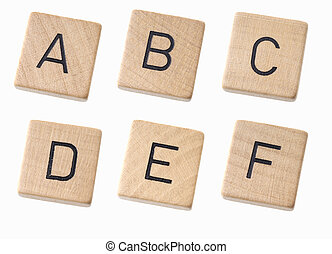 bois, blanc, lettres, fond