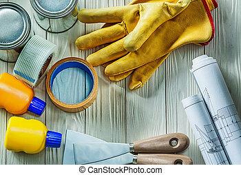 bois, blanc, outils, spatulla, conseils, peinture, construction, modèles