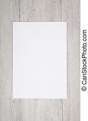 bois, blanc, papier, fond