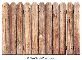 bois, blanc, vieux, isolé, barrière