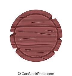 bois, bois, signboard., illustration, signe, vecteur, planche, rond