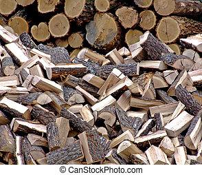 bois brûler, pile