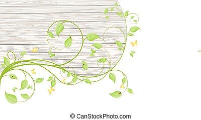 bois, branches, barrière