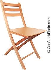 bois, cabriolet, chaise