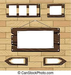 bois, cadres, seamless, plancher