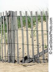bois, cap, plage, morue, barrière