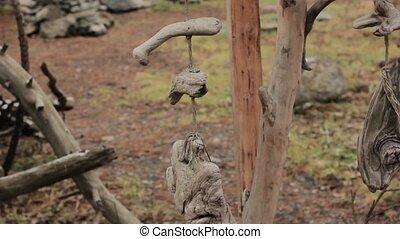 bois, carillon, parc, vent