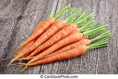 bois, carotte, planche