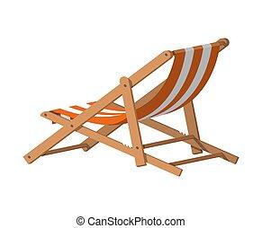 bois, chaise, lounge.