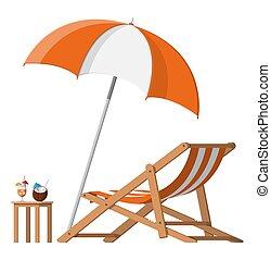 bois, chaise salle, parapluie cocktail