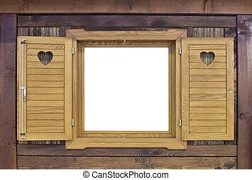 bois, challet, fenêtre