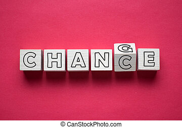 bois, chance, cube, mot, changement