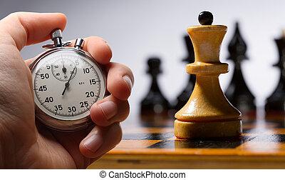 bois, chessmen, échiquier