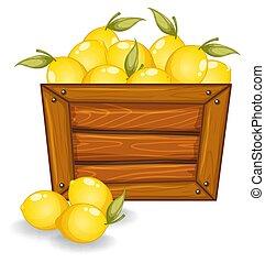 bois, citron, planche