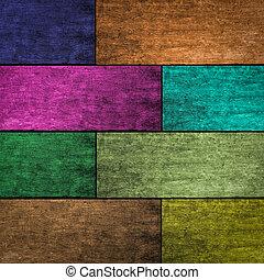 bois, coloré