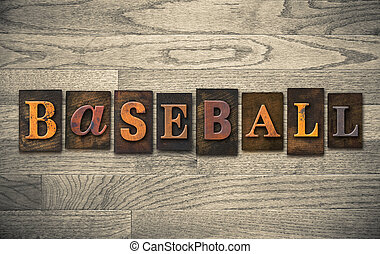 bois, concept, base-ball, letterpress