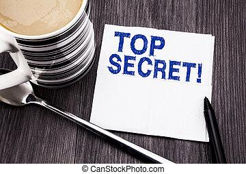 bois, concept, bureau, mouchoir, bois, texte, sommet, tissu, écrit, business, arrière-plan., top secret, papier, secret., marqueur, militaire, vue., coffee., projection, manuscrit