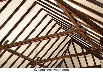 bois, construction, vieux