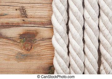 bois, corde, blanc, vieux, fond