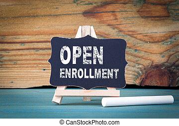 bois, craie, petit, enrollment., ouvert, planche, table