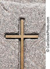 bois, croix catholique