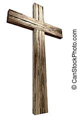 bois, crucifix