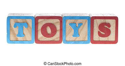 bois, cubes, jouets