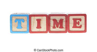 bois, cubes, temps