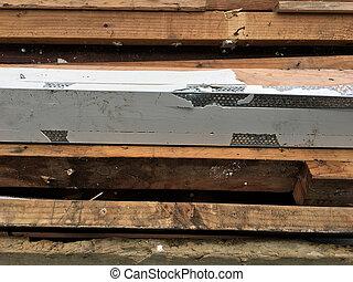 bois, déchets ménagers, fond