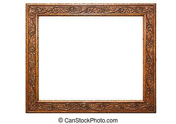 bois, décoratif, cadre graphique
