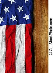 bois, drapeau, usa, fond