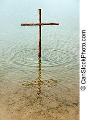 bois, eau, croix