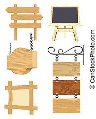 bois, enseigne, collection, vide