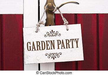 bois, fête, carton, jardin, tableau